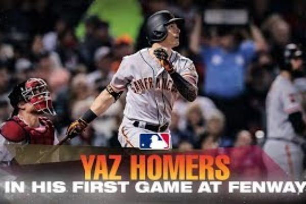 Yaz homers at Fenway